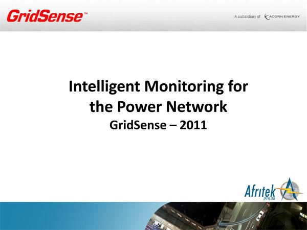 Gridsense Product Overview - 2011