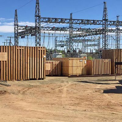 Transformer boxes on site at Eskom Ovaal